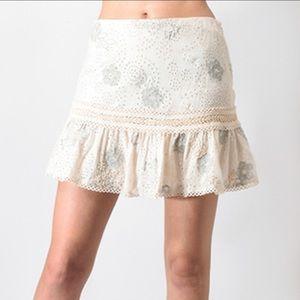 Anthropologie LOVE SAM Lucy in the Sky Mini Skirt